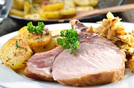 Côtes levées de porc bavarois