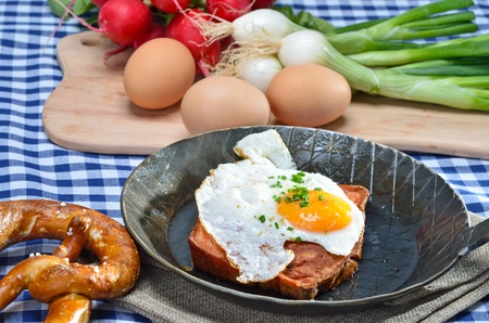 Meat loaf with egg photo