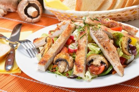 Turecko řízek na míchaném salátu