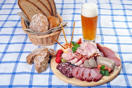 Bavarian snack plate Stock Photo - 13090557