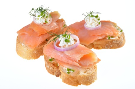 Finger food with salmon photo
