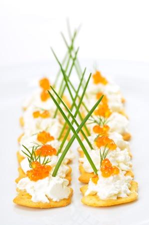 Tidbits with caviar Reklamní fotografie - 13090479