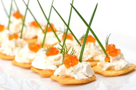 comida gourmet: Tidbits con caviar