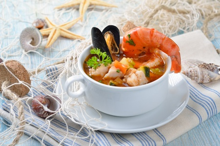 tiger shrimp: Delicious fish soup