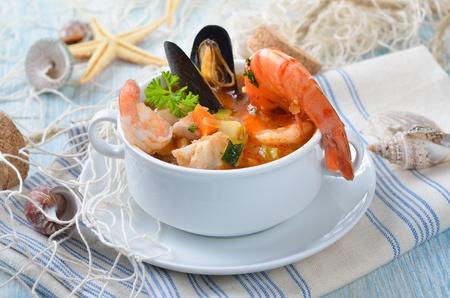 Delicious fish soup Reklamní fotografie - 13285403