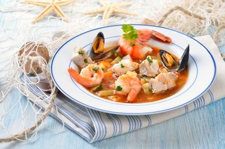 Delicious fish soup photo