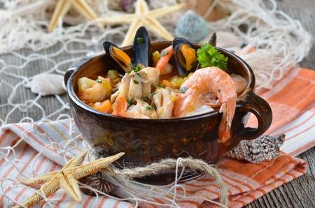 Délicieuse soupe de poisson Banque d'images