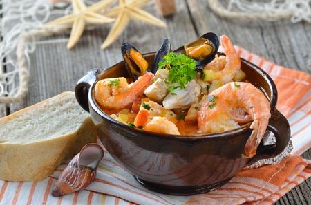 Delicious rybí polévka Reklamní fotografie