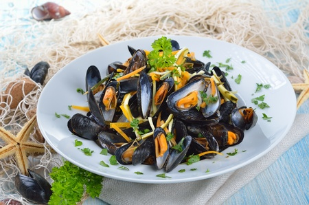 Fresh mussels