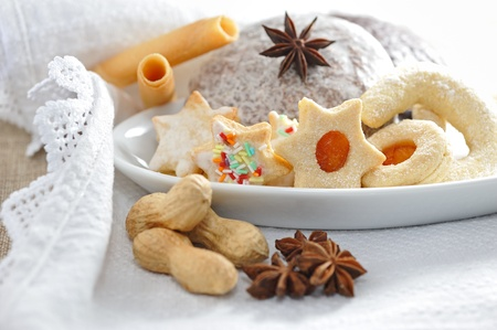 christmas baker's: Christmas biscuits Stock Photo