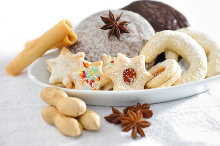 snack time: Christmas biscuits Stock Photo
