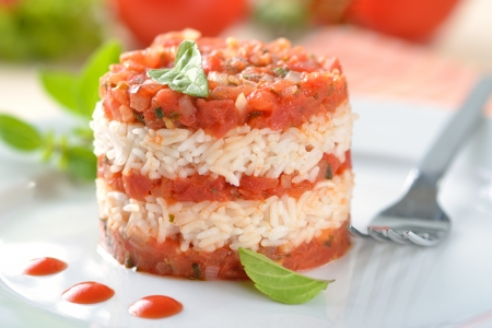 Tomato risotto Reklamní fotografie - 14122762