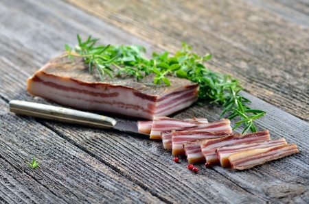 Delicious South Tyrolean cured farmhouse bacon