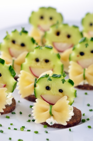 morsel: Funny cheese morsels Stock Photo