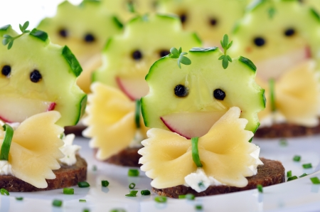roughage: Funny cheese morsels Stock Photo