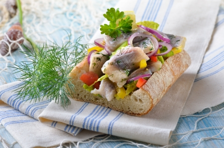 Stuffed ciabatta photo
