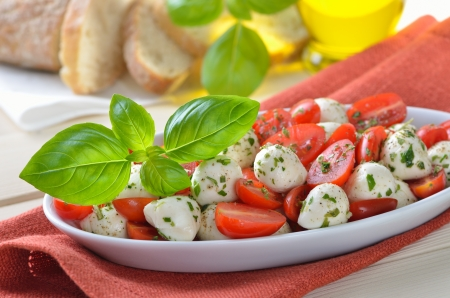 Tomato salad with mozzarella photo