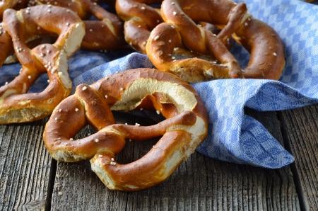 Fresh Bavarian pretzels photo