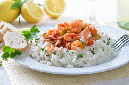 Seafood ragout with rice Stock Photo - 20243445