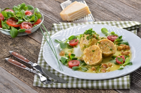 South Tyrolean bread dumplings with spinach and cheese Stock Photo - 22023140