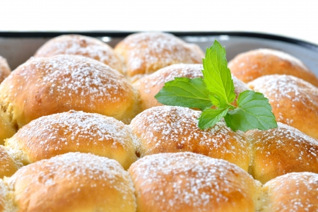 goods: Sweet Austrian yeast pastry dumplings stuffed with apricot jam or plums