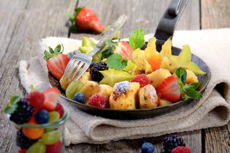 austrian: Austrian pancake with fresh fruit