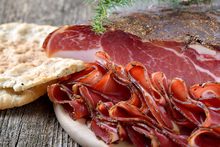 tyrolean: South Tyrolean bacon, a regional specialty, prepared to traditional recipes