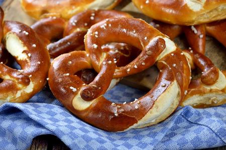 Fresh handmade original Bavarian pretzels from the domestic masterbaker