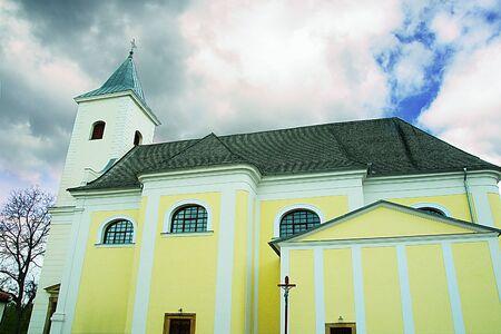 Church of Saint Lawrence. Roman-catholic temple in the Czech Republic. Montenegro, Blansko district, South Moravian Region.