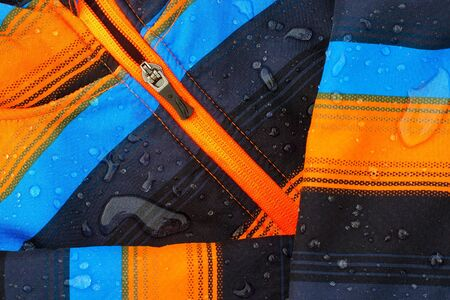 Colorful softshell jacket with raindrops