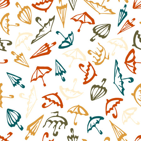 textille: Umbrella seamless pattern in modern cute color for design textile and wallpapers.