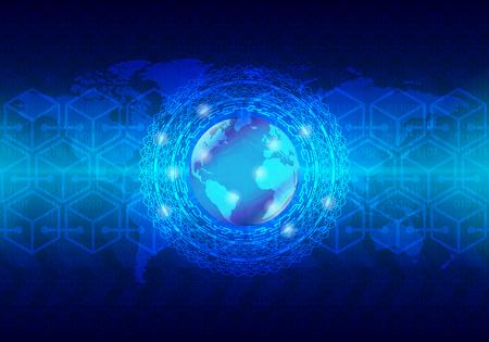 High-Tech-Technologiekonzept, abstrakter Hintergrund. Illustrationsverwendung zum Dekorieren von Websites, Anwendungen und Grafiken.