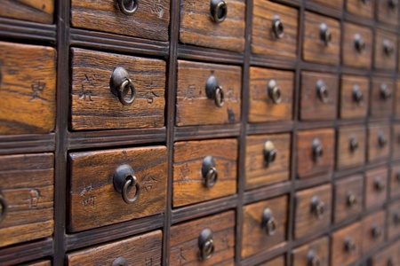 cassettiera: Antique Busto Medicina Cinese
