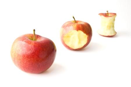 munching: Juicy Apple Munching Stock Photo