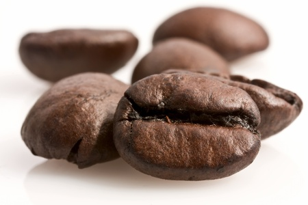 新鮮な焙煎コーヒー豆 写真素材