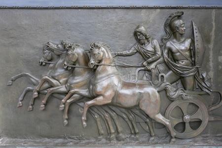 Achillion Palace Bronze Relief Reklamní fotografie