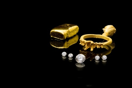 prongs: Diamond Ring Construction Stock Photo