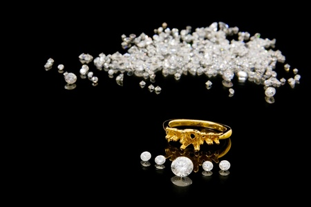 Diamond Ring Setting Banque d'images