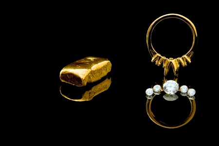casting: Diamond Ring Setting Stock Photo