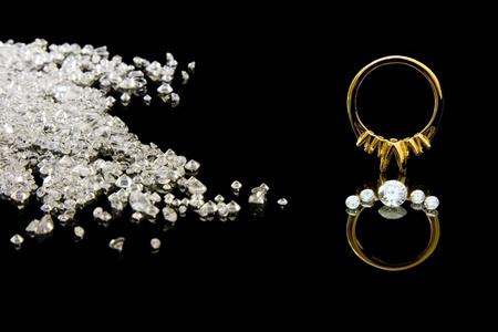 Diamond Ring Setting Reklamní fotografie