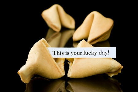 Fortune cookie   This is your lucky Day   Stock Photo - 12433059