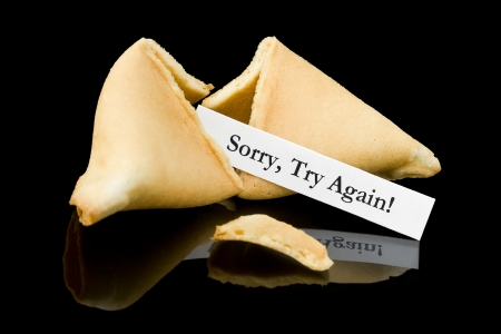 fortune cookie: Fortune cookie   Sorry, Try Again