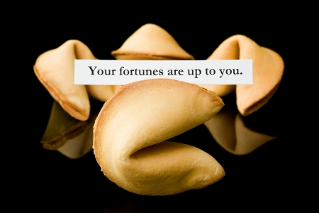 Fortune cookie   Your fortunes are up to you Stok Fotoğraf - 12433063