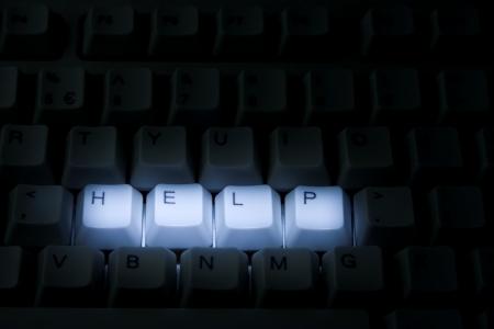 Keyboard Help Stok Fotoğraf - 12433062