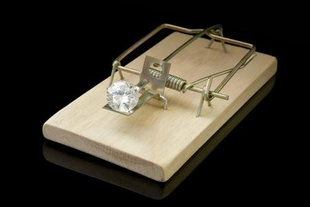 diamond: Diamond Entrapment Stock Photo