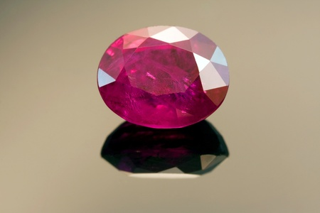 inclusions: Natural Burmese Ruby With Inclusions Stock Photo