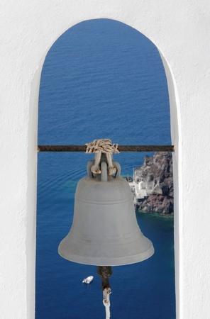bell tower: Santorini Greece Bell