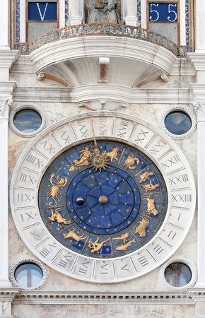moon fish: St Marks Astronomical Clock Stock Photo