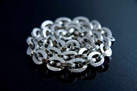 Thick Hammered Silver Chain