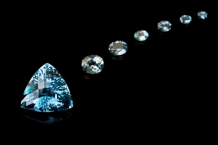 Trilliant Cut Blue Topaz Sequence Stock Photo - 12433200